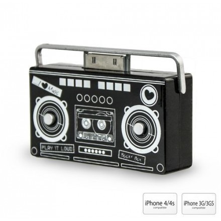 ENCEINTE DESIGN AMPLIFIEE IPHONE
