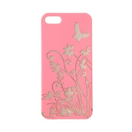 COQUE IPHONE 5MOTIF PAPILLON ROSE