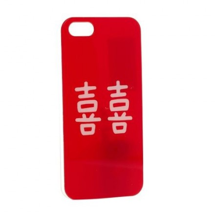 COQUE IPHONE 5 ROUGE JAPONAISE