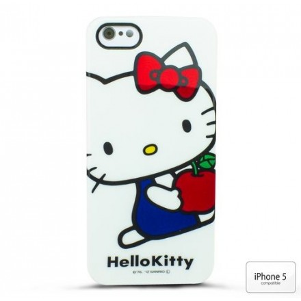 COQUE IPHONE 5 HELLO KITTY BLANCHE