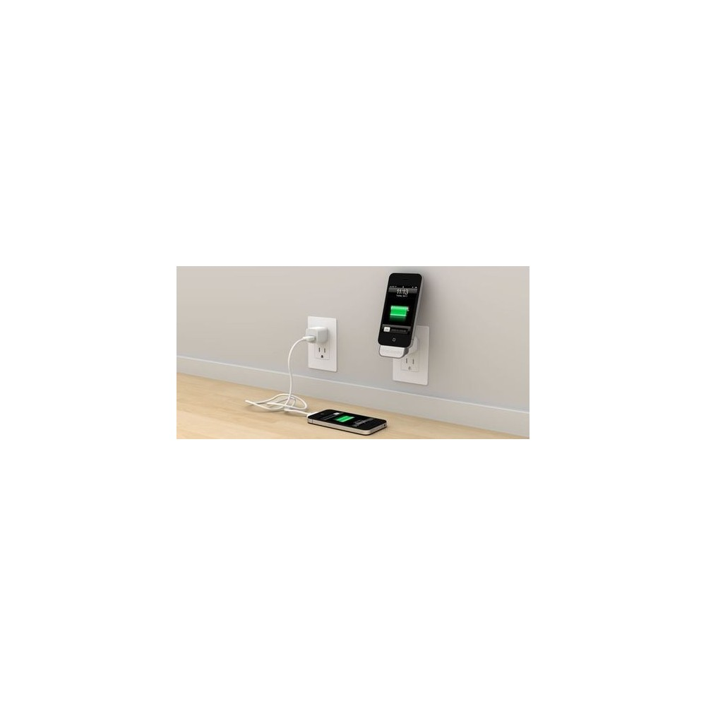 chargeur secteur iphone 3 4 4s avec support. Black Bedroom Furniture Sets. Home Design Ideas