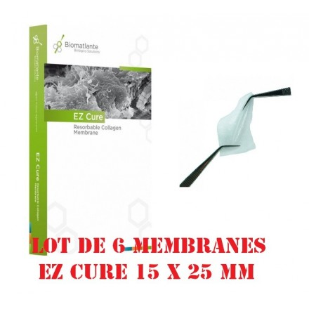Lot de 6 membranes EZ CURE 15 x 25 mm Biomatlante