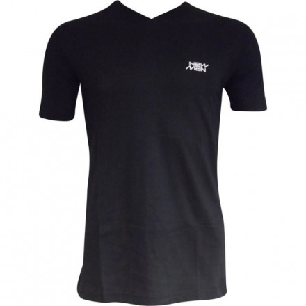 T-shirt col V New Man noir