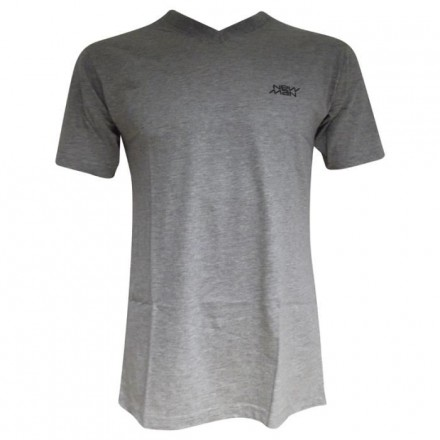 T-shirt col V New Man gris